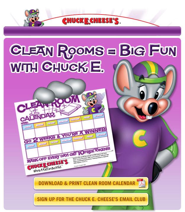Chuck E. Cheese's - Clean Room Calendar